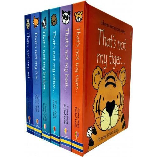 Usborne Thats Not My Wild Animals Collection Touchy-feely 6 Books Set Thats Not My Otter Bear Badg.. - books 4 people