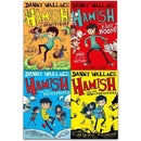 Danny Wallace Hamish Collection 4 Books Set Hamish And The World Stoppers Hamish And The Neverpeop.. - books 4 people