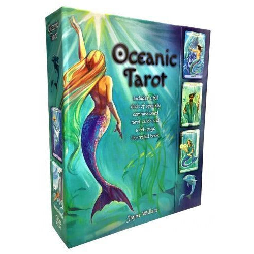 Oceanic Tarot Deck Cards Collection Box Gift Set Mind Body Spirit Mermen Mermaid - books 4 people