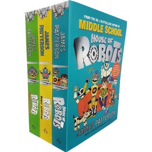 James Patterson House Of Robots Series Collection 3 Books Set House Of Robots Robot Revolution Rob.. - books 4 people