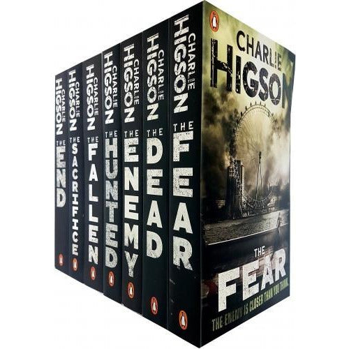 Charlie Higson The Enemy Series 7 Books Collection Set The Enemy The Dead The Fear The Scarifies T.. - books 4 people
