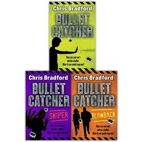 Chris Bradford Bullet Catcher Series 3 Books Collection Set - Bulletcatcher Blowback Sniper - books 4 people