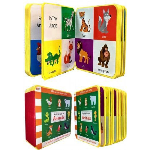 My Little Book Of Animals Camel Goat Birds Farm Animal Pets Tiger Fox Cat - books 4 people