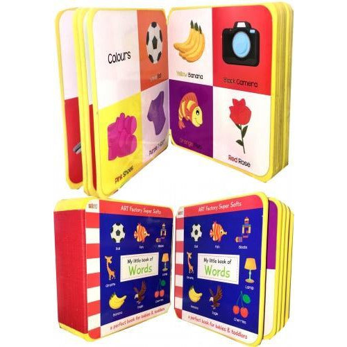 My Little Book Of Words Animals Birds Colour Fruits Toys Shapes Vegetables - books 4 people