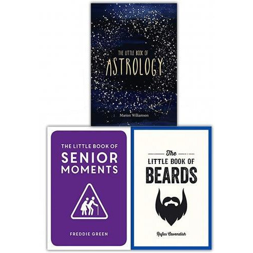 The Little Book Collection 3 Books Set Senior Moments Beards Astrology - books 4 people