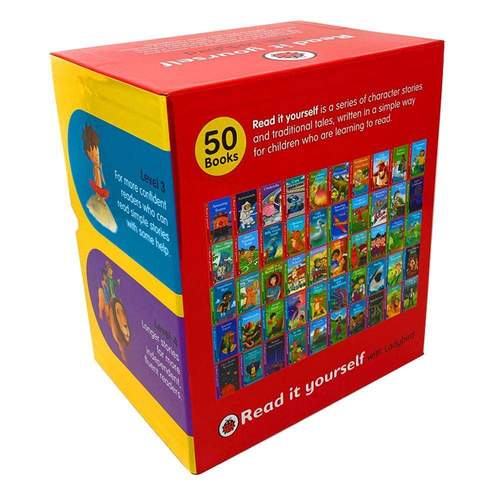 Read It Yourself With Ladybird Collection 50 Books Box Set Pack Level 1 To 4