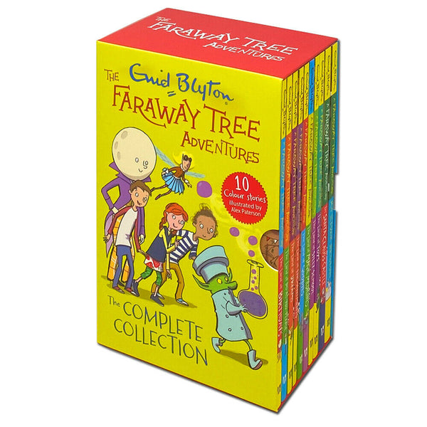 Enid Blyton The Faraway Tree Adventures Colour Stories Complete Collection 10 Books Box Set