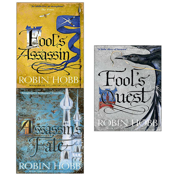 Robin Hobb Fitz And The Fool Collection 3 Books Set Fools Assassin Fools Quest
