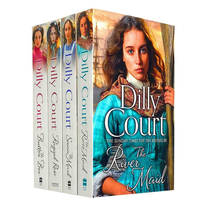 Dilly Court Collection 4 Books Set - Ragged Rose, River Maid, Button Box, Swan Maid
