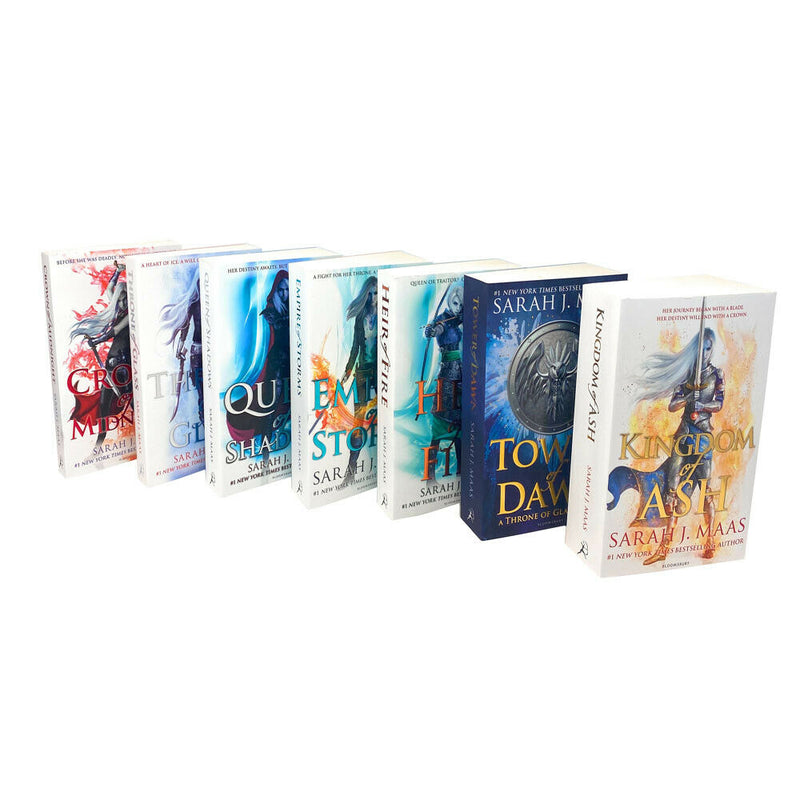 Throne Of Glass Series Collection 7 Books Set By Sarah J Maas