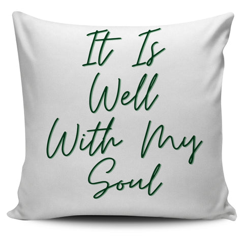 Image of It Is Well With My Soul - Pillow Cover