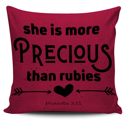 Image of She Is More Precious Than Rubies - Pillow Cover