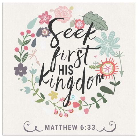 Image of Seek First His Kingdom - Canvas Art - Cream