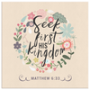 Seek First His Kingdom - Canvas Art - Peach
