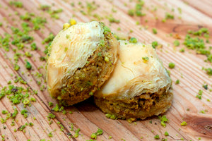 SUGAR FREE MINI ROSE BAKLAVA (PISTACHIO)