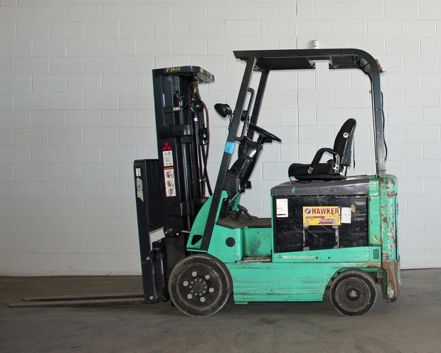 2014 Mitsubishi Model FBC25N Sit-down Electric Forklift (5,000 Lbs. Capacity)