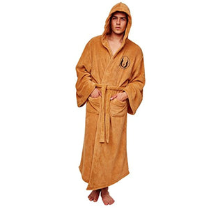 Open image in slideshow, Jedi Hooded Bath Unisex Robe - One Size Fits All