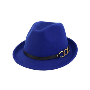 Open image in slideshow, Mens/Women FashionTrilby Hat Panama Style Short Brim Fedora