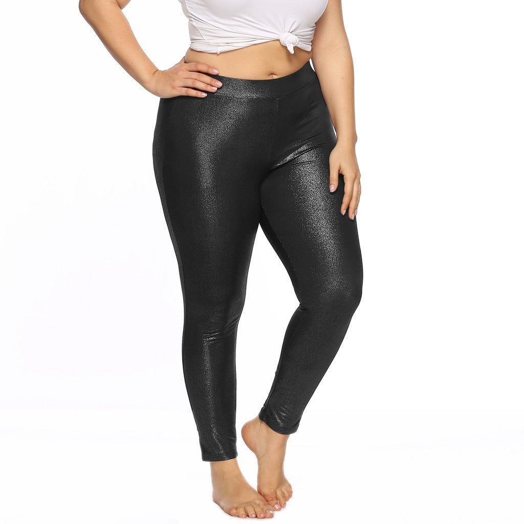 Plus Size Leggings Women Casual Glossy Skinny Sports Joggng Pants Sport Pants Workout Fitness Leggings Sweatpants Clothes