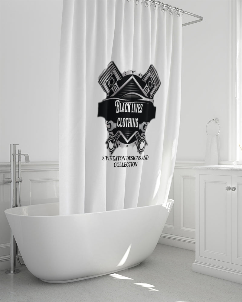 "Black Lives Clothing Shower Curtain 72""x72"""