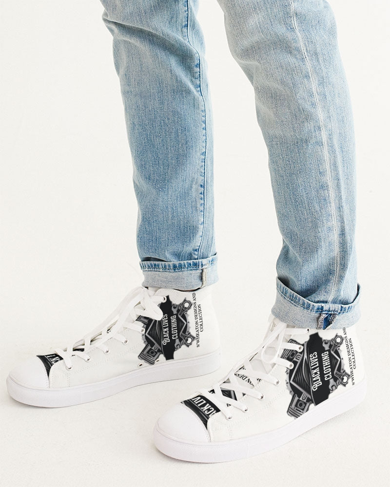 Black Lives Clothing Men's Hightop Canvas Shoe