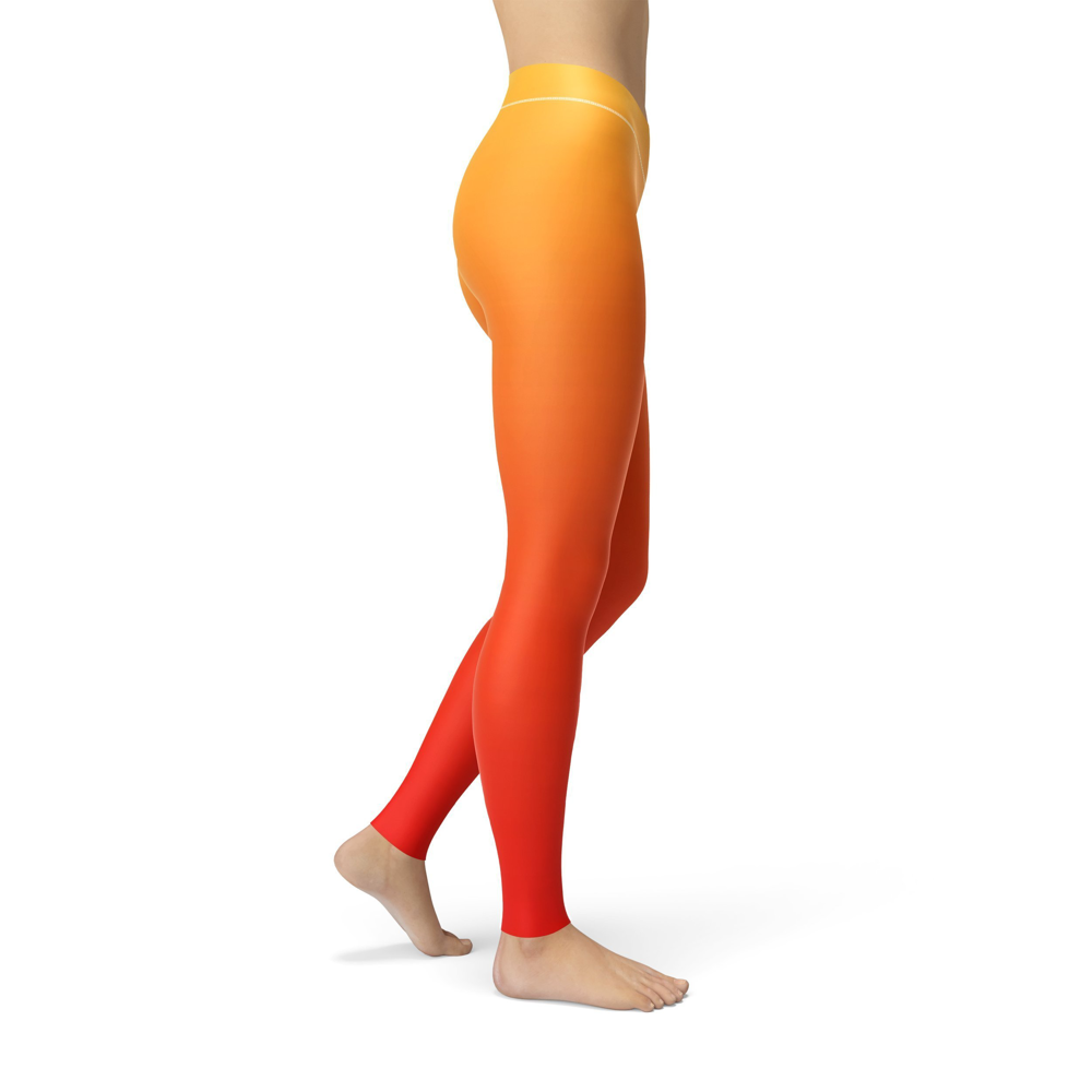 Jean Yellow Red Ombre Leggings - Black Lives Clothing