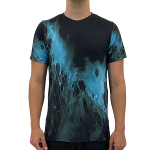 Open image in slideshow, Black Blue Splash Men's T-shirt