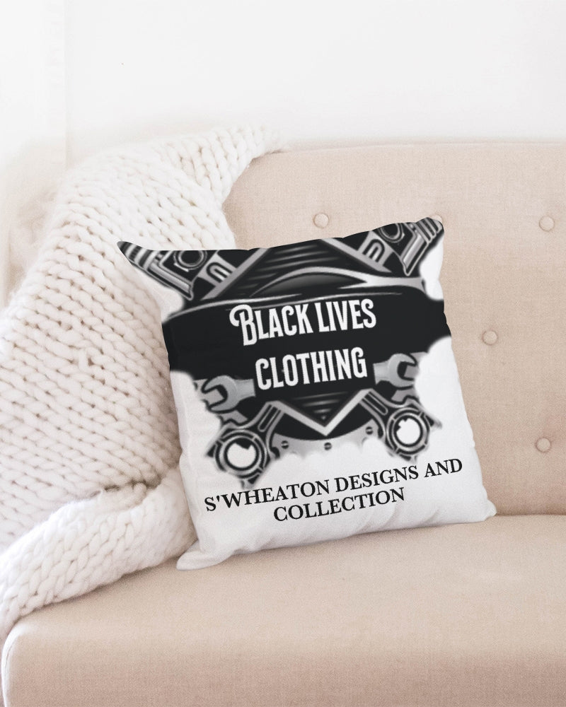 "Black Lives Clothing Throw Pillow Case 18""x18"""