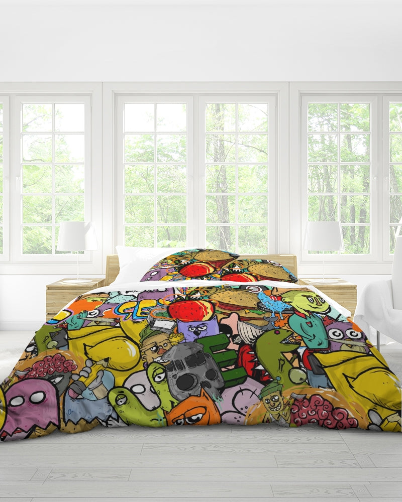 Crowded Street King Duvet Cover Set