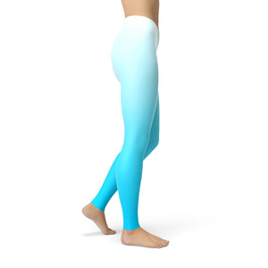 Jean White Blue Ombre Leggings