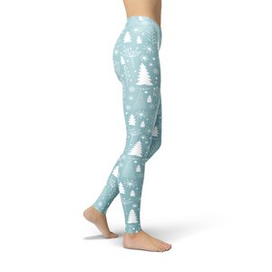 Jean Trees and Snowflakes Leggings