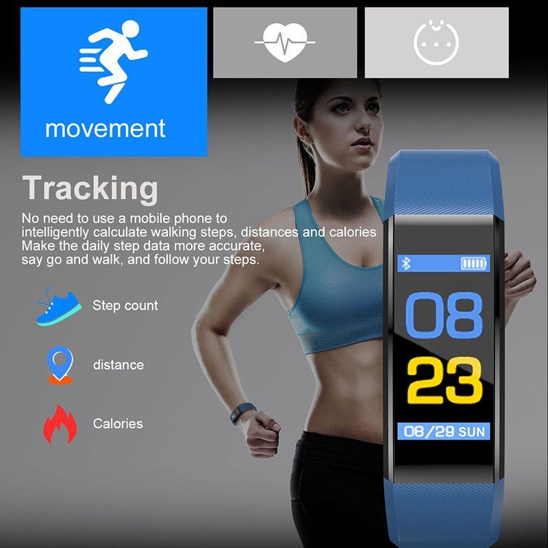 115 Plus Bluetooth Smart Watch Heart Rate.