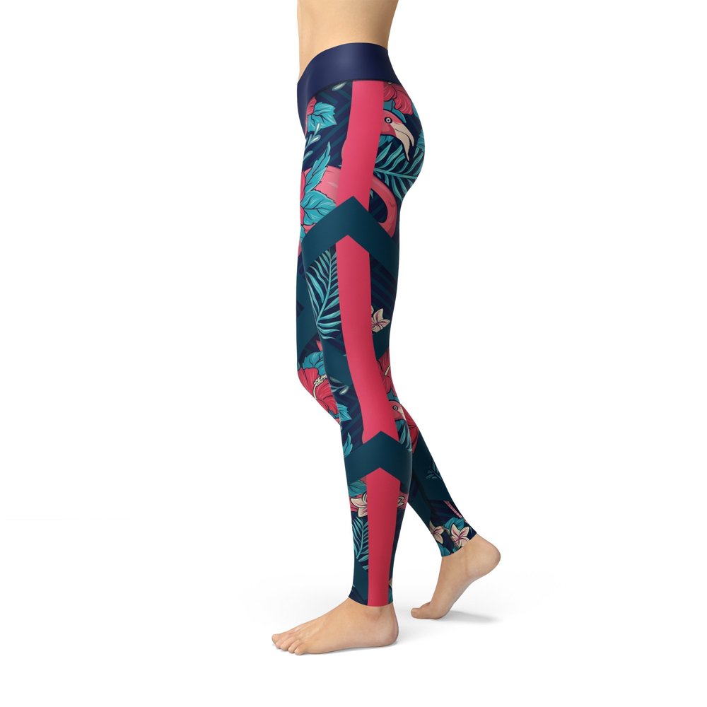 Jean Tropical Flamingo Leggings