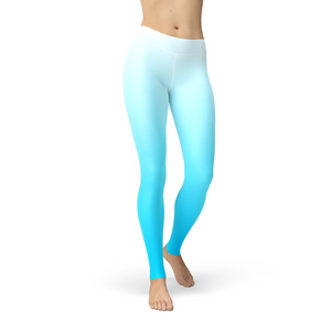 Open image in slideshow, Jean White Blue Ombre Leggings