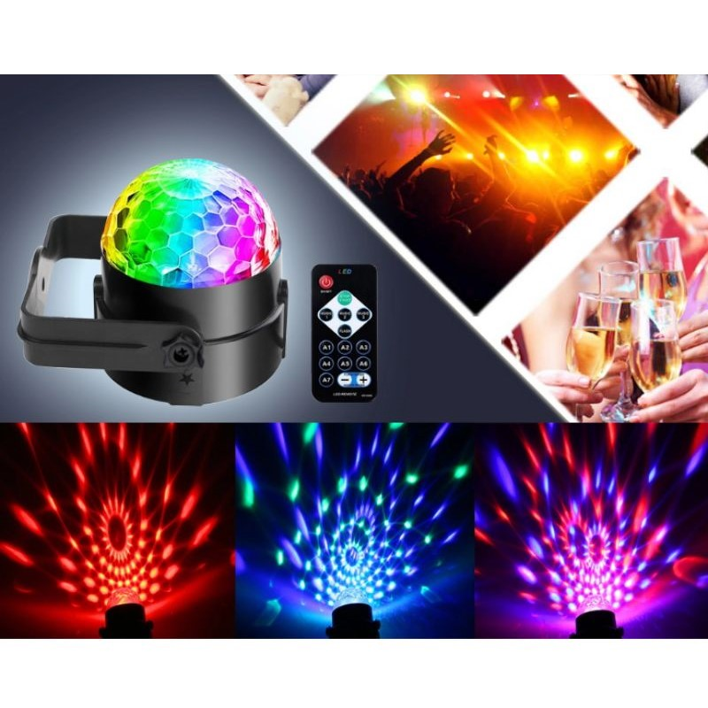 Sound Activated Dj Lighting Party Lights with Remote Control - 2 Pack
