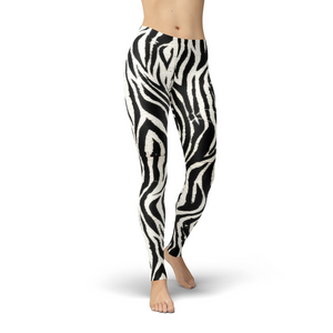 Open image in slideshow, Jean Zebra Print Leggings