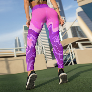 Beverly Hot Pink Liquid Leggings