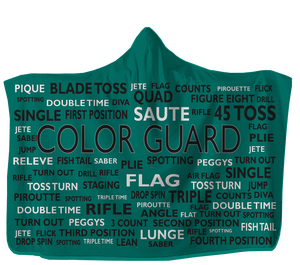 Open image in slideshow, Colorguard Hooded Blanket Choose Your Color