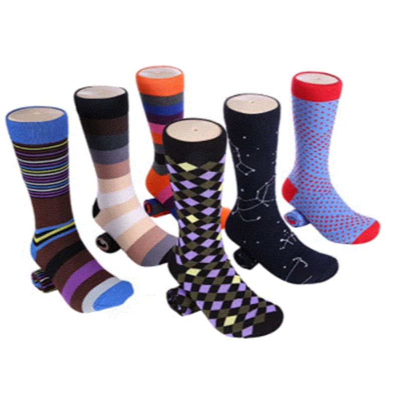 Marino Men's Fun Colorful Cotton Funky Socks - 6 Pack
