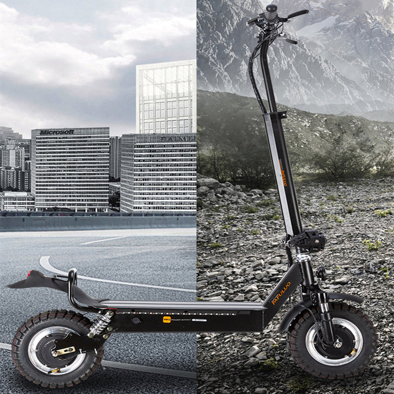 2020 PFULUO X20 Dual Drive 2000W Off-road Smart Electric Scooter 48V Dual Motor Kickscooter with LCD Display Skateboard