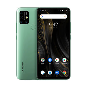 Open image in slideshow, UMIDIGI Power 3, 4GB+64GB Quad Back Cameras, 6150mAh Battery, Face ID & Fingerprint Identification, 6.53 inch Full Screen Android 10 NFC