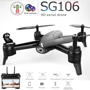 Open image in slideshow, SG106 WiFi FPV RC Drone Camera Optical Flow 1080P HD Dual Camera Aerial Video RC Quadcopter Aircraft Quadrocopter Toys Kids - Black Lives Clothing