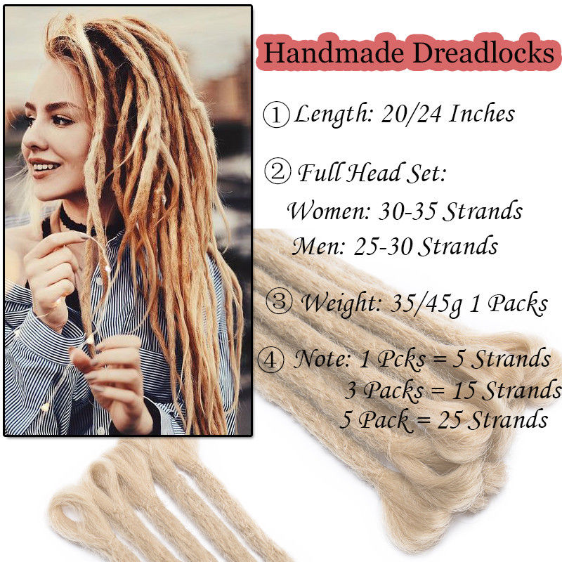 20 24Inch Ombre Dreadlocks Extensions Handmade Synthetic Dreads Hair Extensions Twist Ombre Crochet Reggae Dreadlocks 5Strands/Lot - Black Lives Clothing