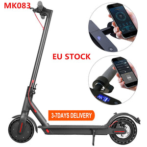 Open image in slideshow, EU/US STOCK 10.4ah 35KM Range Electric Scooter Smart App Scooter Lock Waterproof IP65 LCD Color Display powerful 350W scooter MK083