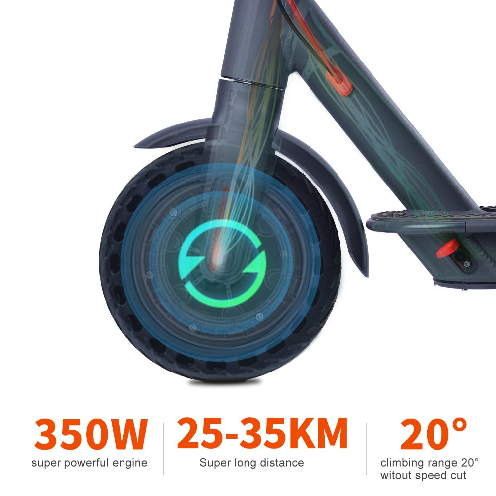 EU/US STOCK 10.4ah 35KM Range Electric Scooter Smart App Scooter Lock Waterproof IP65 LCD Color Display powerful 350W scooter MK083