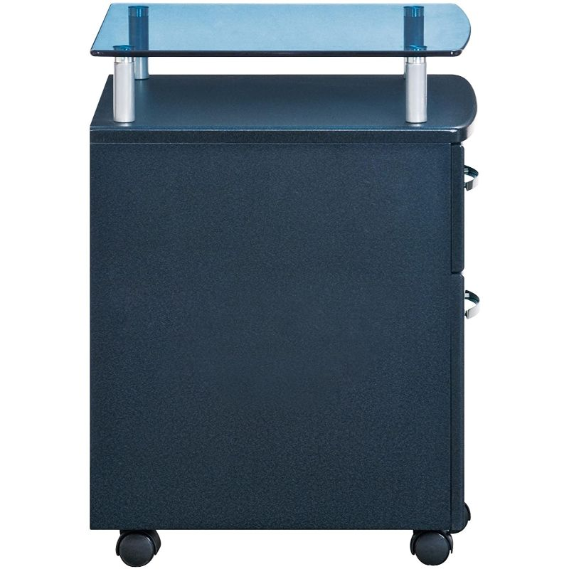 Rolling File Cabinet with Glass Top - Black Lives Clothing