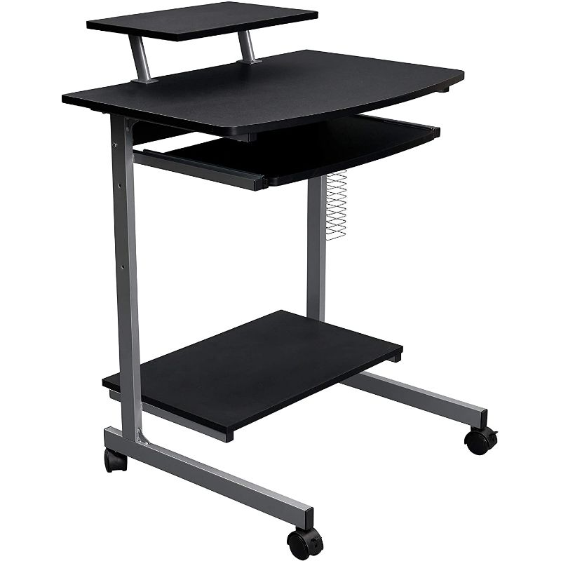 Compact Computer Cart With Storage - Black Lives Clothing