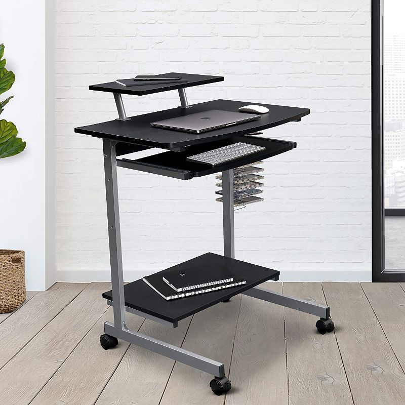 Compact Computer Cart With Storage