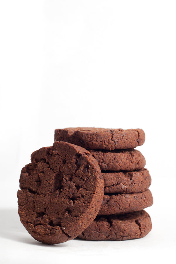 Salty bittersweet chocolate cookies, VEGAN, 6-pack (3 oz)