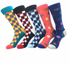 10 Pair/lot New Colorful Men's Combed Cotton Trendy Wedding Socks Funny Casual Crew Skateboard Socks Novelty Gifts